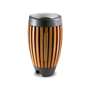 Abfallbehälter aus Holz