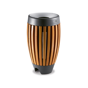 Wood litter bins
